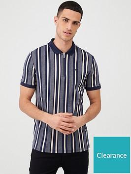 river-island-short-sleeve-herringbone-stripe-polo-shirt-navynbsp