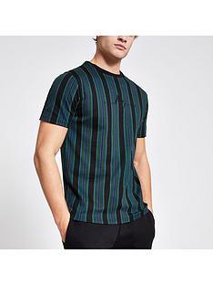 river-island-maison-riviera-black-stripe-slim-fit-t-shirt