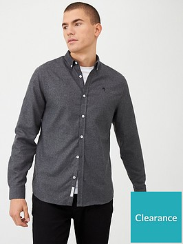 river-island-maison-riviera-textured-slim-fit-shirt-greynbsp
