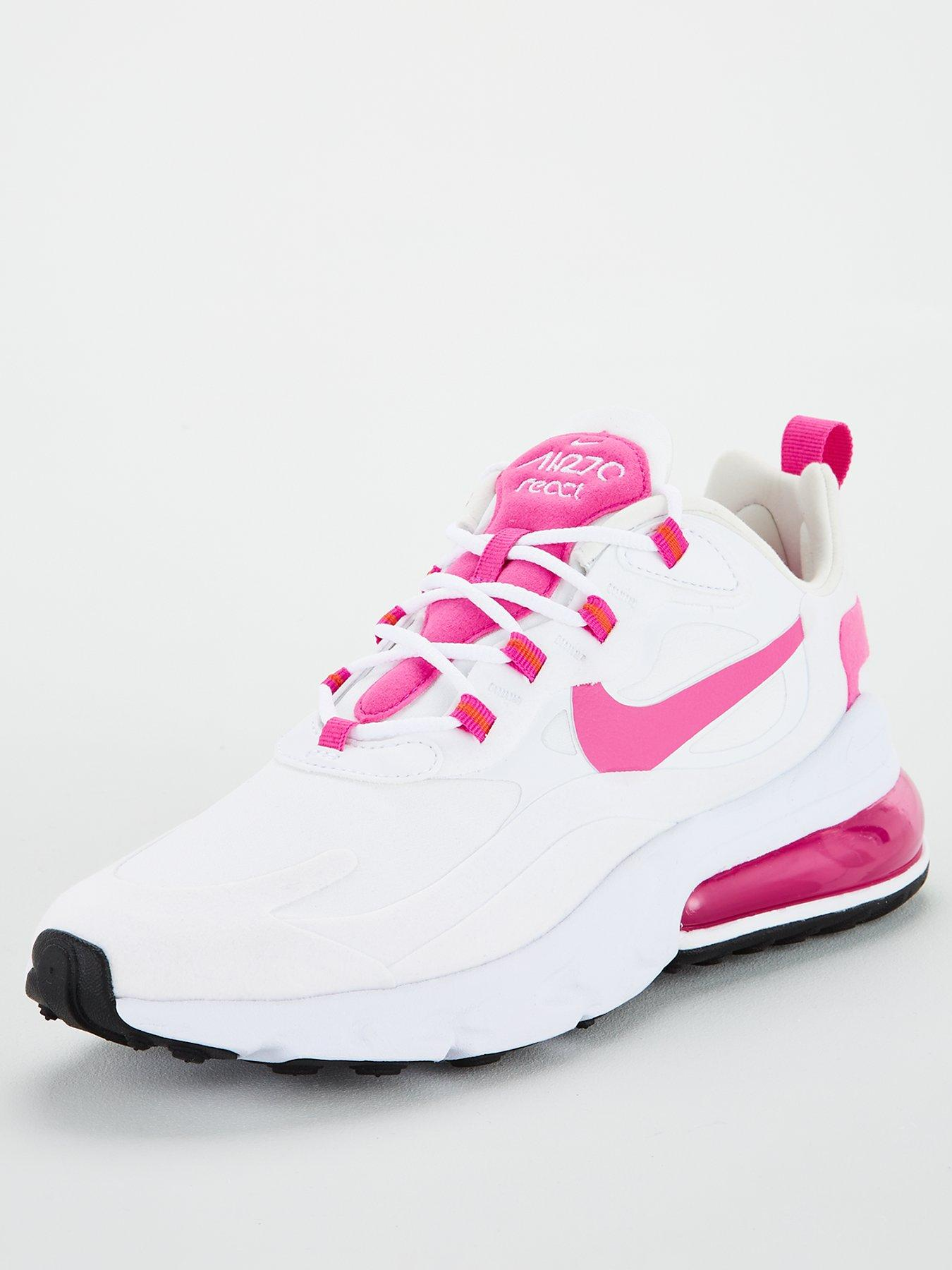 Nike Air Max 270 React - White/Pink