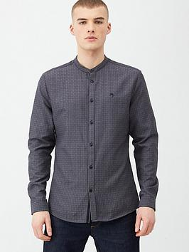 river-island-maison-grandad-collar-slim-fit-shirt-dark-greynbsp