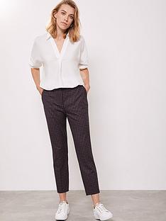 mint-velvet-check-tapered-trouser
