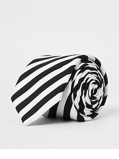 river-island-white-monochrome-stripe-tie