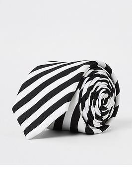 river-island-white-monochrome-stripe-tie