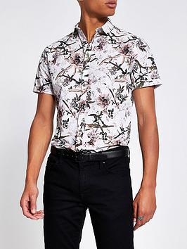 river-island-bird-print-short-sleeve-shirt-creamnbsp