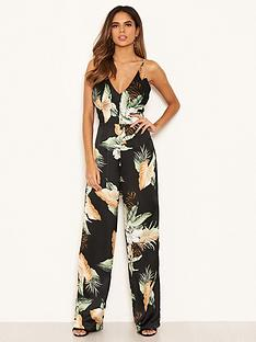 ax-paris-print-sleeveless-jumpsuit-black