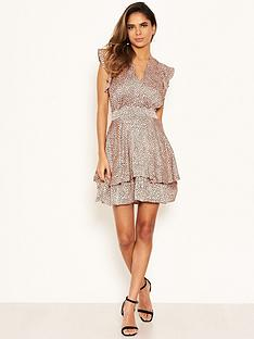 ax-paris-petite-frill-hem-polka-dot-dress-pink