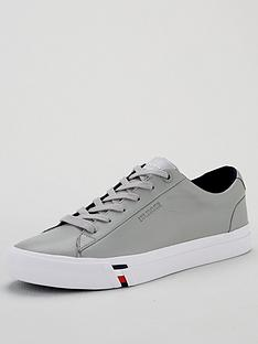 tommy-hilfiger-corporate-leather-sneakers-silver