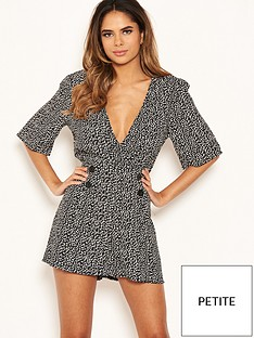 ax-paris-petite-button-detail-playsuit-blackwhitenbsp