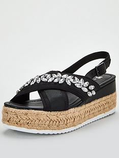 v-by-very-damara-jewel-embellished-wedge-sandals-black