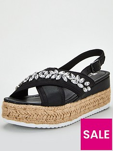 v-by-very-damara-jewel-embellished-wedge-sandals-black