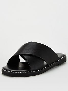 v-by-very-cross-strap-slider-black
