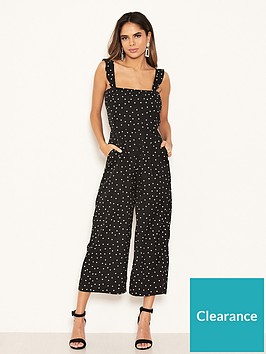 ax-paris-petite-polka-dot-culotte-jumpsuit-black