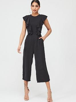 ax-paris-polka-dot-frill-jumpsuit-print