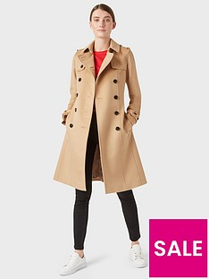 hobbs-wool-saskia-trench-coat-camel