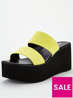 v-by-very-delight-twin-strap-mule-wedge-sandals-yellow