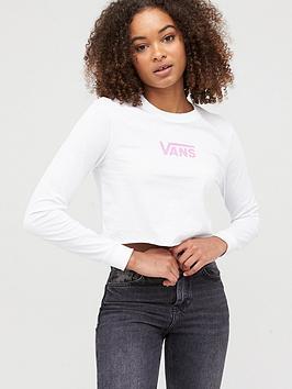 vans-airborne-v-long-sleeve-crop-t-shirtnbsp--whitenbsp
