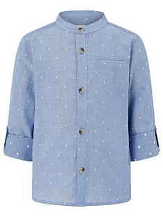 monsoon-boys-stuart-pinstripe-and-spot-long-sleeve-grandad-shirt-ndash-blue