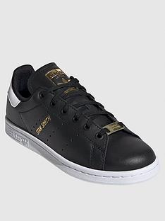 adidas-originals-juniornbspstannbspsmithnbsptrainers-black