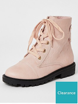 river-island-girls-monogram-lace-up-boots--nbsppink