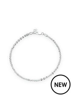 beaverbrooks-silver-sparkle-twist-anklet