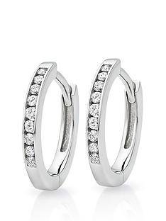 beaverbrooks-9ct-white-gold-diamond-hoop-earrings