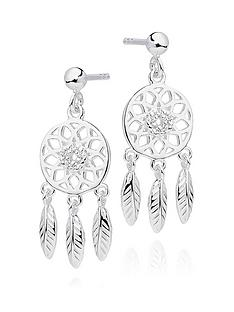 beaverbrooks-silver-cubic-zirconia-dreamcatcher-earrings