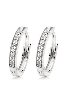 beaverbrooks-silver-cubic-zirconia-hoop-earrings