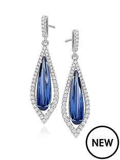 beaverbrooks-silver-blue-cubic-zirconia-halo-drop-earrings