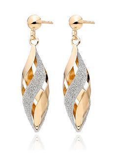 beaverbrooks-9ct-gold-glitter-drop-earrings