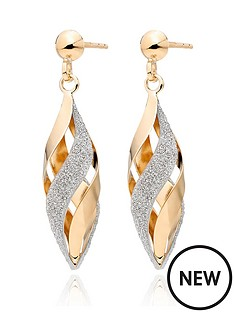 beaverbrooks-9ct-gold-glitter-drop-earrings