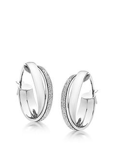 beaverbrooks-9ct-white-gold-glitter-hoop-earrings