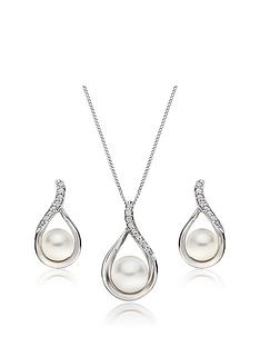 beaverbrooks-9ct-white-gold-diamond-freshwater-cultured-pearl-pendant-and-earrings-set