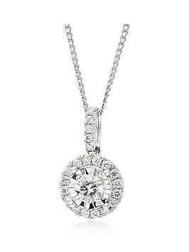 beaverbrooks-18ct-white-gold-diamond-cluster-pendant