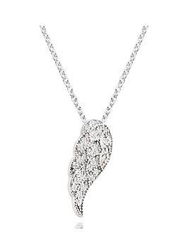 beaverbrooks-silver-cubic-zirconia-angel-wing-pendant