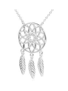 beaverbrooks-silver-cubic-zirconia-dreamcatcher-necklace