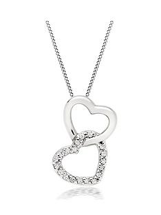beaverbrooks-9ct-white-gold-diamond-double-heart-pendant