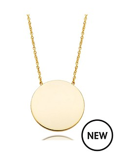 beaverbrooks-9ct-gold-disc-necklace