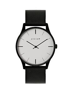 jigsaw-jigsaw-white-and-black-detail-dial-black-stainless-steel-mesh-strap-ladies-watch