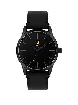 farah-farah-black-dial-black-leather-strap-mens-watch