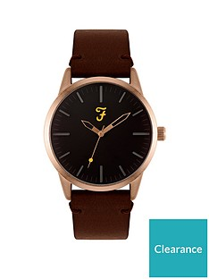 farah-farah-black-and-gold-detail-dial-brown-leather-strap-mens-watch