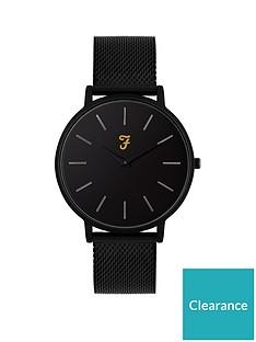 farah-farah-slim-jim-black-dial-black-stainless-steel-mesh-strap-mens-watch