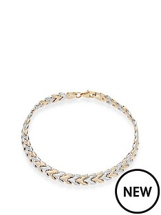beaverbrooks-9ct-two-colour-gold-bracelet