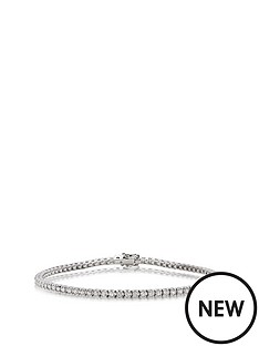 beaverbrooks-9ct-white-gold-diamond-bracelet
