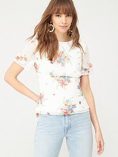 v-by-very-ruffle-sleeve-shell-top-floral-print