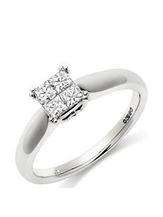 beaverbrooks-18ct-white-gold-diamond-cluster-ring