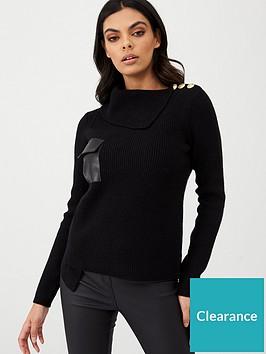 river-island-punbsppocket-knitted-jumpernbsp--black