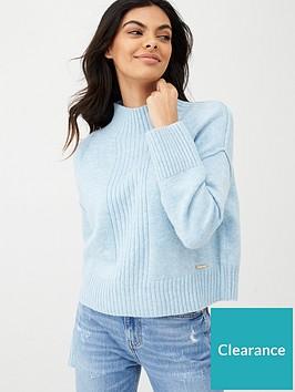 river-island-high-neck-cropped-knitted-jumpernbsp--lightnbspblue
