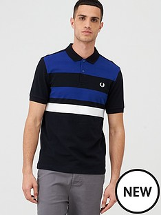 fred-perry-tape-detail-polo-shirt-black