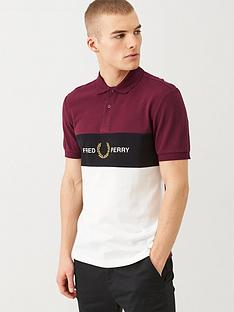 fred-perry-embroidered-panel-polo-shirt-port